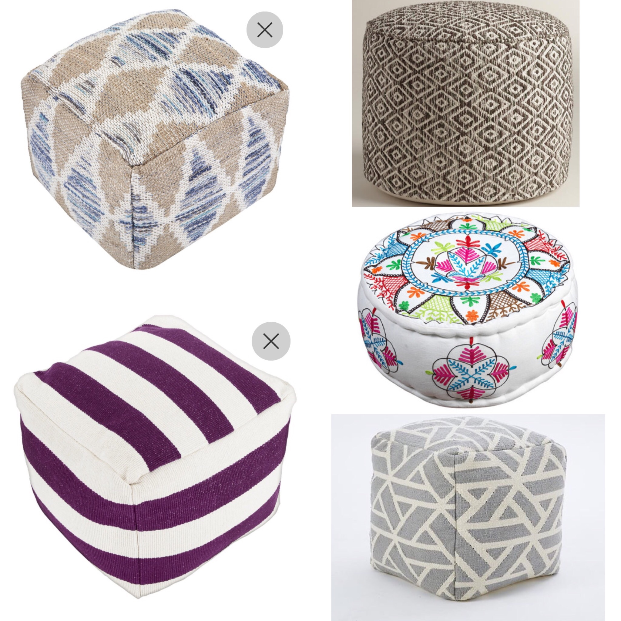 Five Fab Floor Poufs!